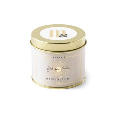 Voor MAMA ME&MATS tin candle – You're Golden