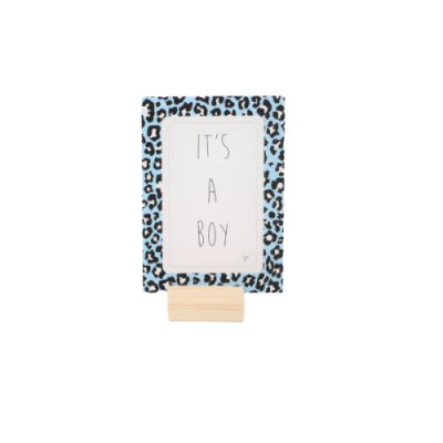 Kaart IT'S A BOY Blauw Panter