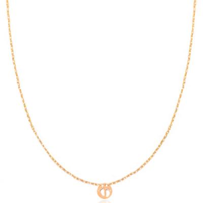 RVS Stainless steel ketting babyvoetjes Rosé goud
